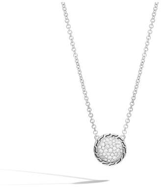 John Hardy Classic Chain Round Necklace With Diamonds