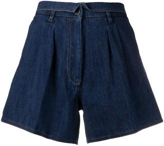 Forte Forte Folded-Waist Denim Shorts