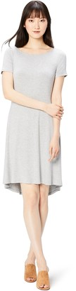 Daily Ritual Amazon Brand Women's Jersey Short-Sleeve Bateau Neck Dress