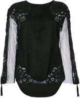 Twin-Set mesh blouse - women - Cotton/Polyester/Viscose - 42