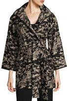 Josie Natori Embroidered Silk Jacket