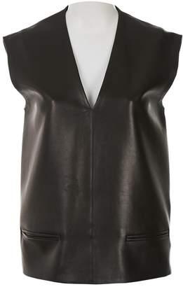 Celine Black Leather Tops