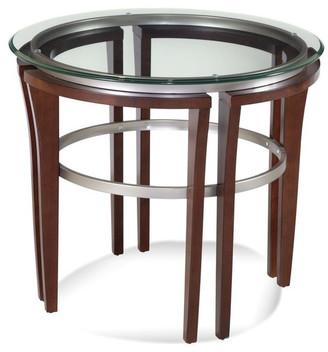 Bassett Mirror Fusion Round End Table