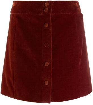 Saint Laurent buttoned A-line skirt