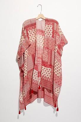 Free People Georgia Patchwork Print Kimono