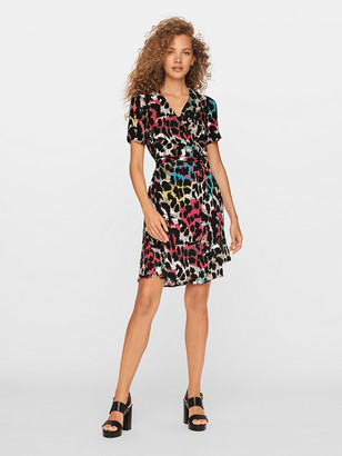 Diane von Furstenberg Saville Eco-Crepe Mini Wrap Dress