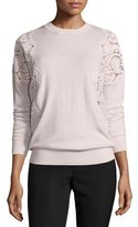 Ted Baker Tae Lace-Cutout Sweater, Nude Pink