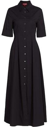 STAUD Joan Collared Maxi Shirtdress