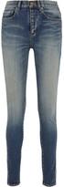 Saint Laurent Mid-rise Skinny Jeans - Mid denim