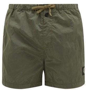 Stone Island Short Drawstring Swim Shorts - Mens - Dark Green