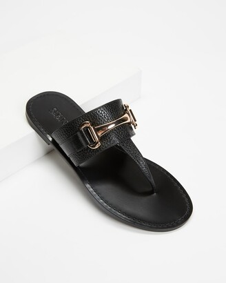 Senso Women's Black Flat Sandals - Farley II - Size One Size, 37 at The Iconic
