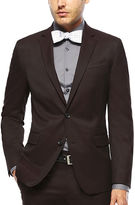 Jf J.Ferrar JF Burgundy Twill Suit Jacket - Super Slim Fit