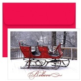 Hortense B. Hewitt 18ct Holiday Sleigh Holiday Boxed Cards