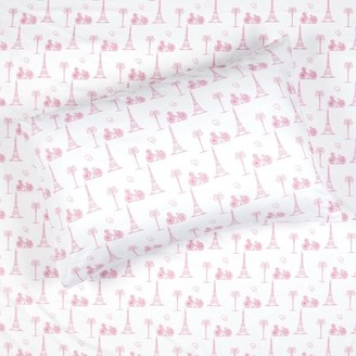 Kids Rule Soft Brushed Pink Paris Sheet Set