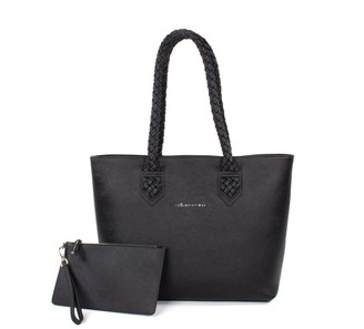 Crafted Society Luisa Tote - Black Saffiano Leather