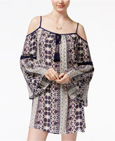American Rag Printed Crochet-Trim Off-The-Shoulder Shift Dress, Only at Macy's