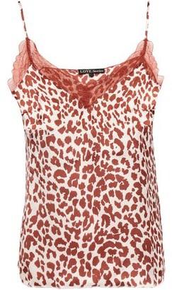LOVE Stories Camelia Lace-trimmed Leopard-print Satin Camisole