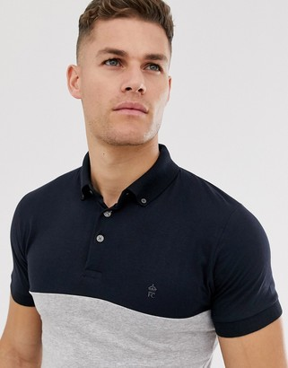 French Connection block polo-Navy
