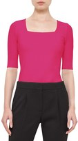 Akris Punto Women's Half Sleeve Square Neck Tee