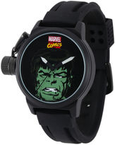 Marvel Hulk Mens Black Silicone Strap Crown Protector Watch