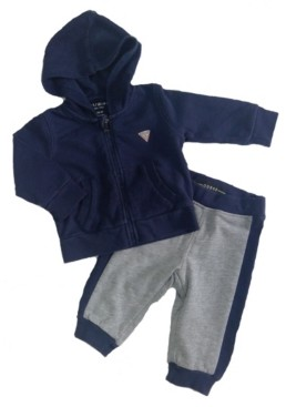 GUESS Boys French Terry Zip Front Hoodie & Jogger Set