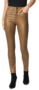 Joe's Jeans The Charlie Ankle Skinny Jeans in Gold Metallic Coating
