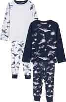 Boys Next Blue Space Print Pyjamas Two Pack (3-14yrs)