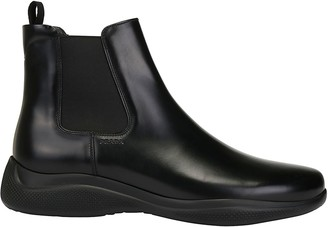 Prada Elasticated Side Panel Ankle Boots