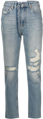 IRO Distressed Fitted Jeans