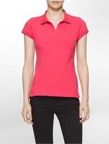 Calvin Klein Solid Pique Logo Polo Shirt