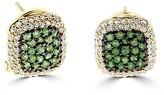 Effy Jewelry Effy 14K Yellow Gold Emerald and Diamond Earrings, 1.38 TCW