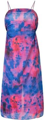 Rokh Tie Dye Print Dress
