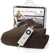 Dreamland Dreamland's Luxury Super Soft Washable Chocolate Microfleece Electric Large Throw (150cm x 90cm) – Rapidly Heats Up In Only 5 Minutes