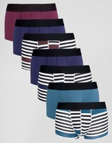 Asos Hipsters With Stripe 7 Pack