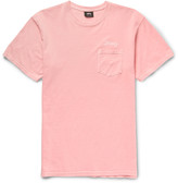 Stüssy - Embroidered Cotton-jersey T-shirt