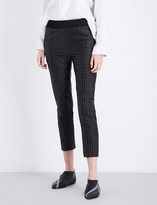 Haider Ackermann Cropped polka-dot silk-blend trousers