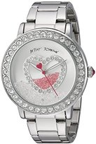 Betsey Johnson Women's Quartz Metal and Stainless Steel Casual Watch, Color:Silver-Toned (Model: BJ00158-06)