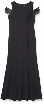 Eliza J Women's Beaded Cold Shoulder Gown