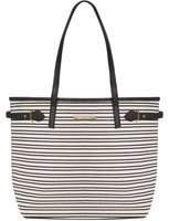 Dorothy Perkins Womens Black And White Shopper Bag- Black