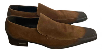 DSQUARED2 Brown Suede Flats