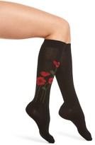 Kate Spade Women's Falling Poppy Knee High Socks