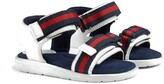 Gucci Kids Toddler leather sandal with Web straps