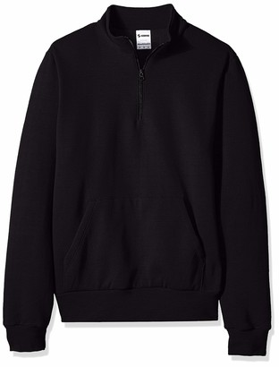 Soffe Men's Quarter Zip Mock Neck