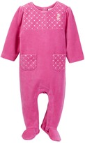 Juicy Couture Quilted Velour Footie (Baby Girls)