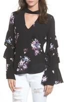 BP Women's Ruffle Sleeve Choker Top