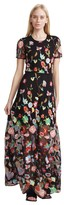 Cynthia Rowley Embroidered Tulle Lace Maxi Dress