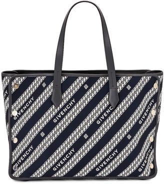 Givenchy Medium Bond Chain Jacquard Tote in Oil Blue | FWRD