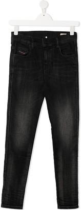 Diesel TEEN faded skinny jeans