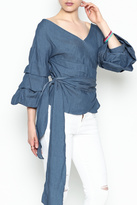 Do & Be Do-Be Denim Wrap Top