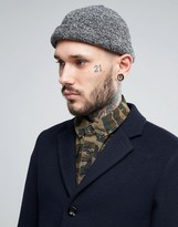 Asos Docker Hat In Gray Marl